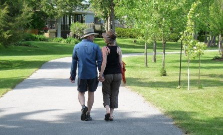 Photo of couple walking on the Lakefield Trail