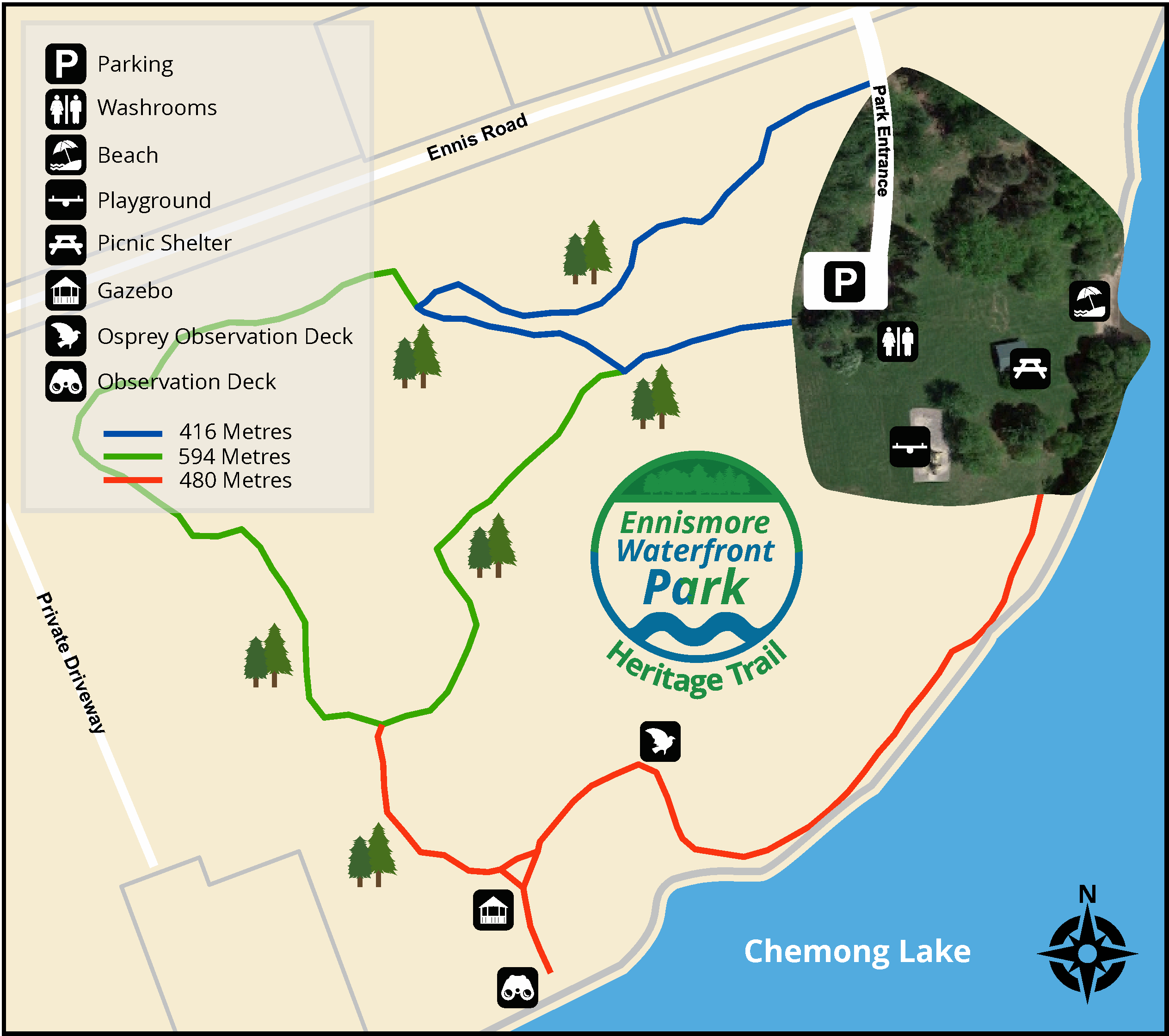 Map of the Ennismore Heritage Trail
