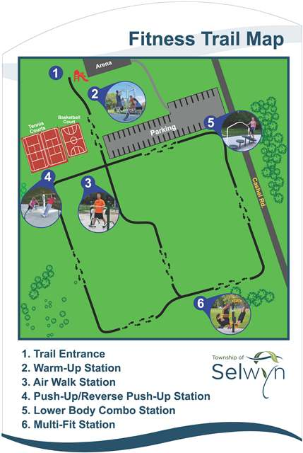 Map of the Ennismore Fitness Trail